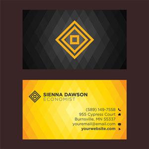 Card Visit Màu Vàng Đen