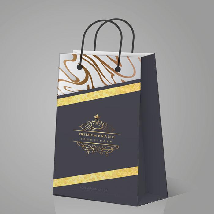 Túi Giấy Ép Kim Màu Đen Sang Trọng