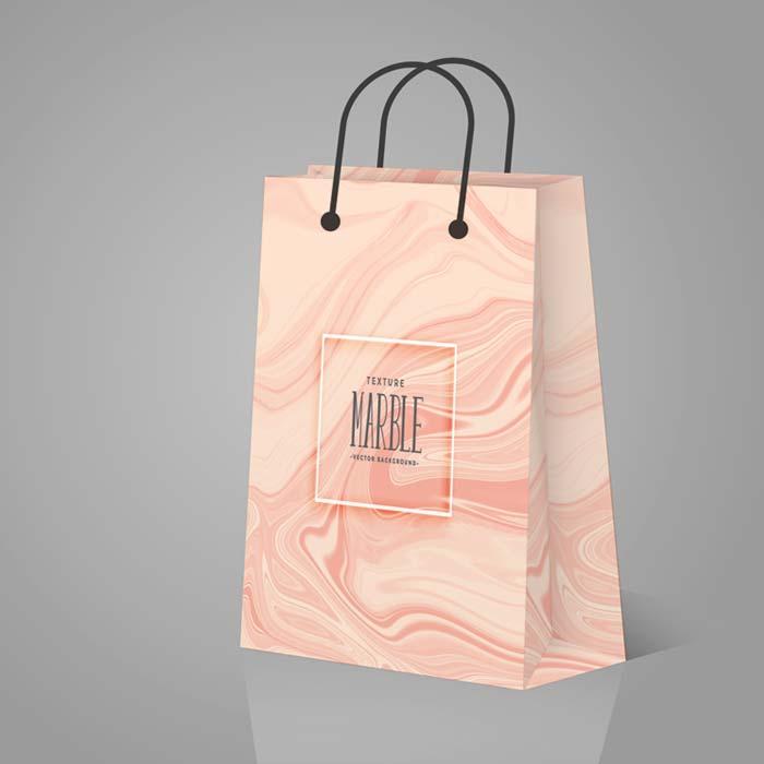 In túi giấy màu hồng chất lượng, giá rẻ